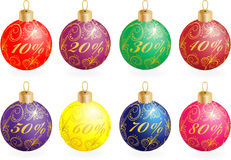 Christmas balls. Decorated with an ornament Stock Photo