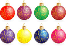 Christmas balls. Decorated with an ornament Stock Image