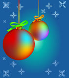 Christmas Balls. Illustrated christmas balls and snowflakes stock illustration