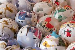Christmas balls. Collection of beautiful christmas balls Royalty Free Stock Photos
