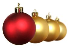 Christmas balls. Red and yellow christmas balls Royalty Free Stock Image