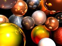 Christmas balls. Shiny Chrismas balls illustrated, computer generated Stock Images