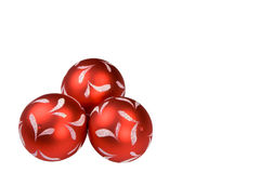 Christmas balls. Isolated on white, clipping path included Stock Photo