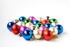 Christmas balls. A few many-coloured small christmas balls Royalty Free Stock Images