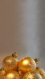 Christmas balls. Christmas shining gold balls background Royalty Free Stock Photos