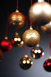 Christmas balls. Many Christmas balls hanging next to each other Stock Photos