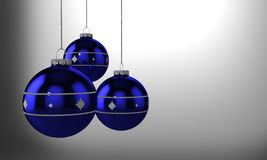 Christmas balls. Large 3D rendering of 3 Christmas ornament Stock Images