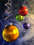 Christmas balls. 3d rendring of the christmas balls Stock Images