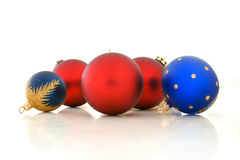Christmas balls. Beautiful christmas balls on a white background Stock Photo
