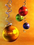 Christmas balls. 3d rendring of the christmas balls Royalty Free Stock Image