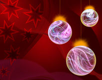 Christmas balls. The Christmas ornaments lights balls on the abstract background Stock Images