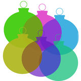 Christmas Balls. Colorful abstract background of multicolored christmas ornaments Stock Image