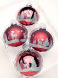Christmas balls. In plastic container Stock Photography
