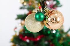 Christmas balls. Studio shot of Christmas balls royalty free stock images