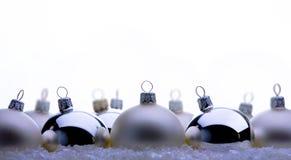 Christmas balls. The art christmas balls on white background stock image
