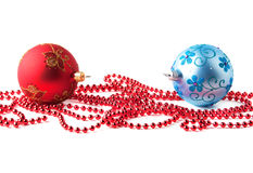 Christmas balls. Chrismas decoration isolated on white Royalty Free Stock Photos