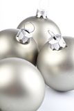 Christmas balls. Christmas silver balls isolated on white background Stock Images