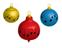 Christmas balls. This illustration depicts christmas balls with music score pattern royalty free illustration