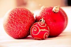 Christmas balls. A Christmas inspired still-life stock photo