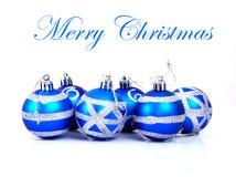 Christmas balls. Isolated on white background Royalty Free Stock Image