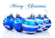 Christmas balls. Isolated on white background Stock Image