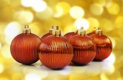 Christmas balls. Isolated on abstract background stock photo