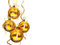 Christmas balls 2011. On white background 3D rendering Royalty Free Stock Photos