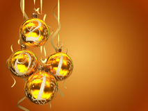 Christmas balls 2011. On the background 3D rendering Royalty Free Stock Photography