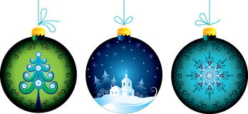 Christmas balls. Decorative Christmas balls on a white background Royalty Free Stock Photo