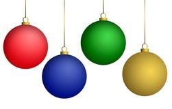 Christmas balls. Christmas balls isolated on white background Royalty Free Stock Photo