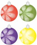 Christmas balls. In different colors Royalty Free Illustration