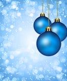 Christmas balls. Blue christmas balls, decorations and ornaments Stock Photos