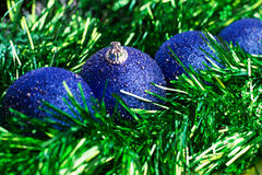Christmas balls. Four christmas balls in the line Royalty Free Stock Image