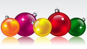 Christmas balls. Christmas colorful glossy balls/bubbles. Vector illustration royalty free illustration