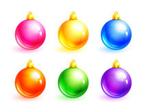 Christmas balls. Set of vector Christmas balls (eps10 Stock Photos