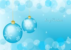Christmas balls. Blue christmas balls with blue background Royalty Free Stock Photos