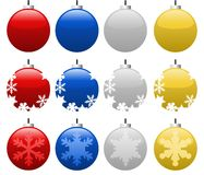 Christmas Balls. Set of nine christmas balls. Vector available Royalty Free Stock Photos