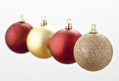 Christmas Balls. Floating in the air royalty free stock photos