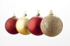Christmas Balls. Floating in the air stock image