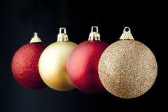 Christmas Balls. Floating in the air royalty free stock photo