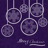 Christmas balls. Abstract christmas balls. Christmas vector card Stock Illustration