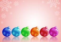 Christmas balls. To make greeting cards Stock Images
