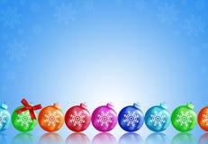 Christmas balls. To make greeting cards Stock Image