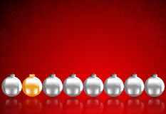 Christmas balls. To make greeting cards Royalty Free Stock Images