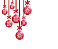 Christmas balls. To make greeting cards Royalty Free Stock Photo