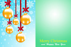 Christmas balls. To make greeting cards Royalty Free Stock Photos