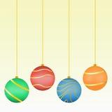 Christmas Balls. Illustration of various christmas balls Stock Photography