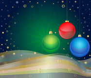 Christmas Balls. Christmas card design created in Adobe Illustrator. Layered .eps file is available Stock Image