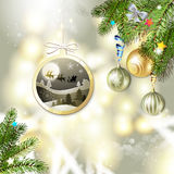 Christmas with balls Royalty Free Stock Images