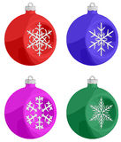 Christmas Balls. A set of Christmas Balls with a SnowFlake hovering in the balls center royalty free illustration